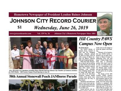 Front Page Johnson City Record Courier
