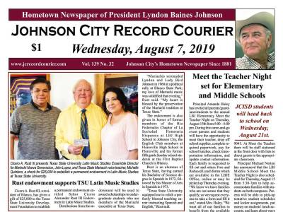Front Page | Johnson City Record Courier