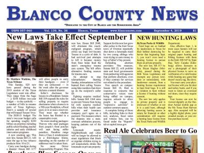 Front Page | Blanco County News