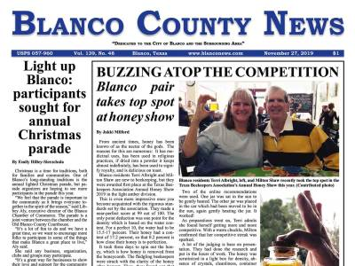 Front Page   Blanco County News